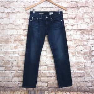 AG Adriano Tomboy Relaxed Straight Crop Jeans